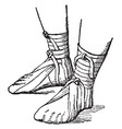 roman sandals vintage engraving vector image vector image