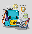 school utensil design to study and learn vector image vector image
