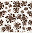 seamless pattern with sunflower image vector image vector image
