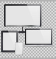 set computer devices vector image vector image