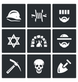 Set of Concentration Camp Icons German vector image vector image