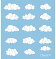 set of cute cartoon clouds vector image vector image