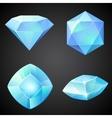 Set of lightblue gemstones vector image vector image