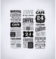 Set Of Vintage Retro Coffee vector image vector image