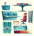 set with equipment for underground bunker vector image vector image