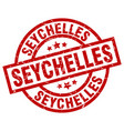 seychelles red round grunge stamp vector image vector image