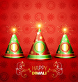 shiny diwali crackers vector image
