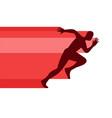 silhouettes running athletes running man vector image