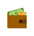 simple money wallet vector image