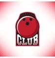 sing bowling club vector image vector image