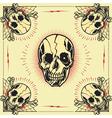Skull bone cross Frame vector image vector image