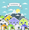 small village in norway scandinavia - variegated vector image
