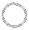 spiral shape of zero one line vector image