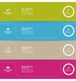 Strips of paper of different colors with pointers vector image vector image