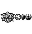 template for design sporting badge with set vector image vector image