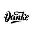 thank you in german calligraphy danke vector image