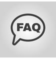 The faq speech bubble icon Help symbol Flat vector image vector image
