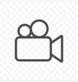 video camera icon isolated on transparent vector image