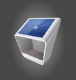 white promotional interactive information kiosk vector image