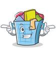 wink laundry basket character cartoon vector image vector image