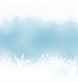 winter snow frame blue background vector image vector image