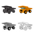 yellow dump truck with black wheelsthe vehicle vector image vector image