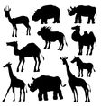 silhouettes of wild animals vector image