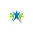 people communication group logo vector image