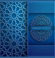 3d ramadan kareem greeting cardblue color vector image vector image