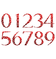 Abstract red numbers vector image vector image