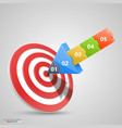 arrows darts hit vector image vector image