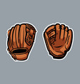 baseball gloves logo icon asset