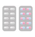 blister packs capsule pills realistic set vector image vector image