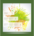Brochure Layout Design Template Green abstract vector image