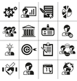 Business management icons black vector image vector image