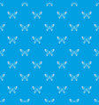 butterfly with dot wings pattern seamless vector image vector image