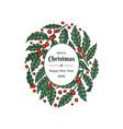 christmas hand drawn greeting card design vector image