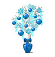 christmas sketch with decorative element vector image vector image