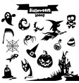 collection of halloween elements vector image vector image