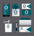 corporate identity template set business vector image vector image