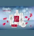 cosmetics advertising beauty ages lotion or cream vector image
