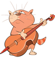 Cute Cat Violinist vector image vector image