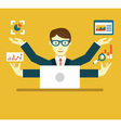Data Specialist with copy space for text vector image vector image