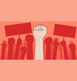 demonstration protesting crowds people vector image vector image