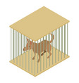 dog cage icon isometric 3d style vector image vector image