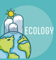 ecology green world concept vector image vector image