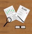 economic planning vector image vector image