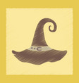 flat shading style icon halloween witch hat vector image vector image