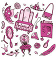 girls accessories for and vector image
