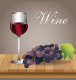 glass cup wine grape beverage image vector image vector image